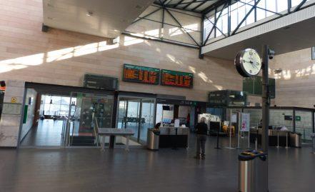 Estación AVE desde Palazuelos y La Granja